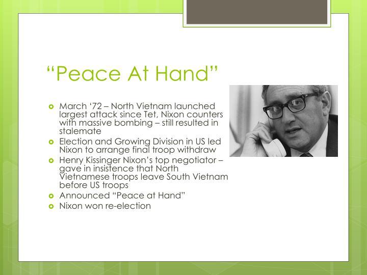 """""""Peace At Hand"""""""