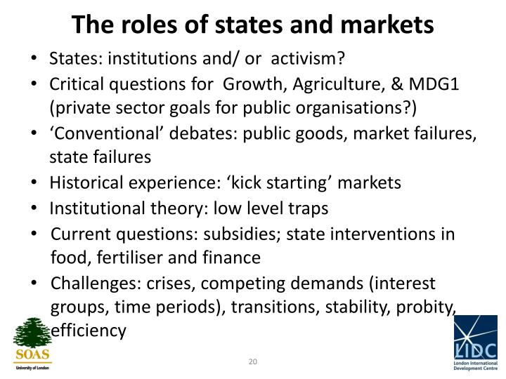 The roles of states and markets
