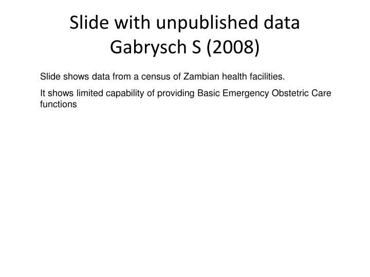 Slide with unpublished data