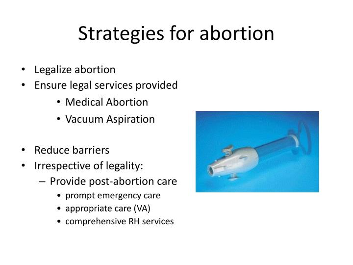 Strategies for abortion