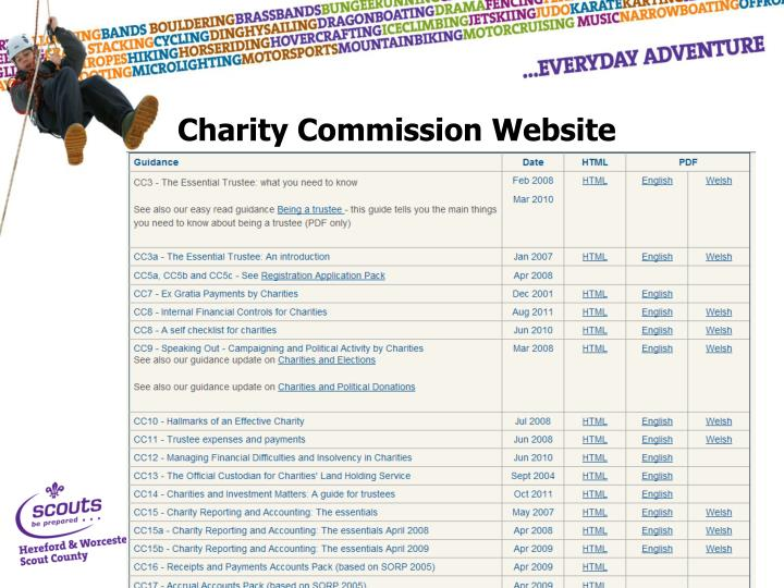 Charity Commission Website