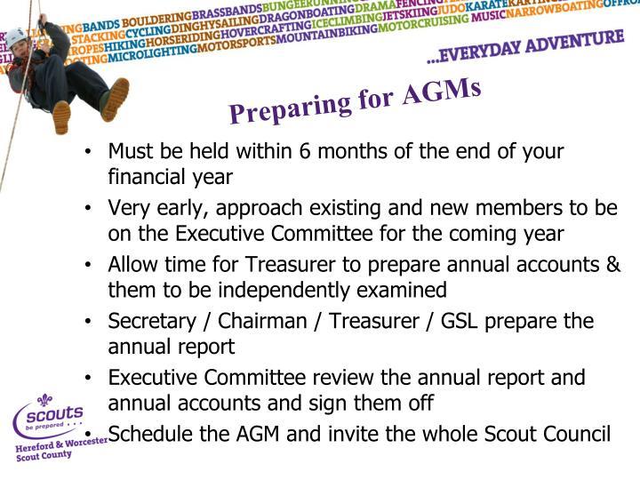 Preparing for AGMs