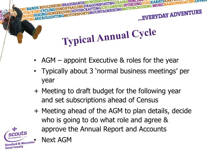 AGM – appoint Executive & roles for the year