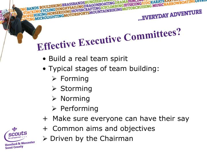 Build a real team spirit