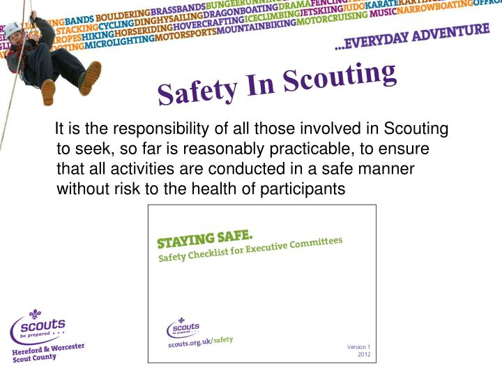 Safety In Scouting