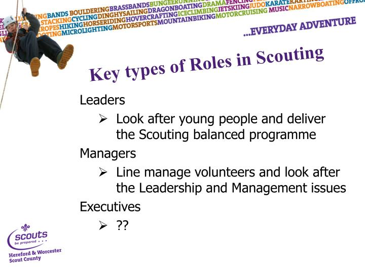 Key types of Roles in Scouting