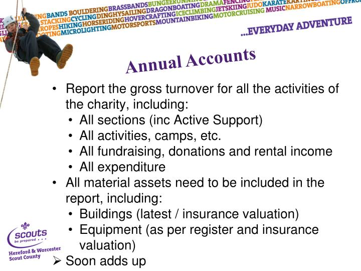 Report the gross turnover for all the activities of the charity, including: