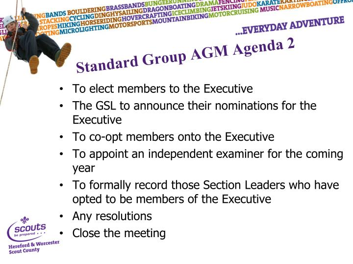 Standard Group AGM Agenda 2