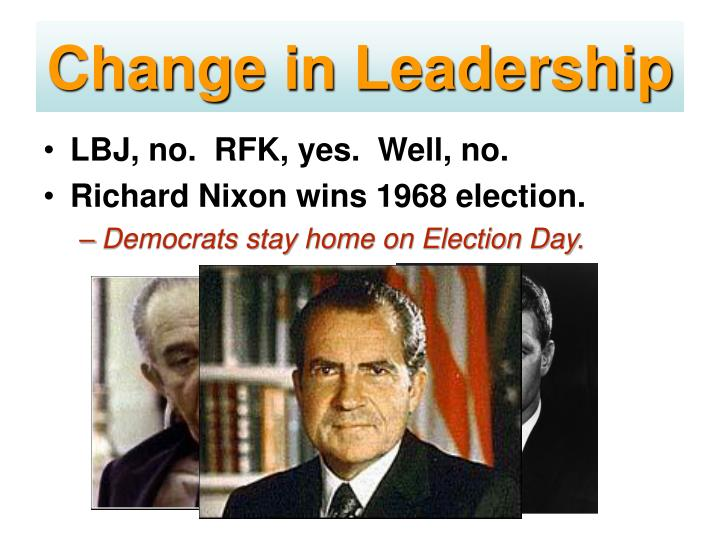 Change in Leadership