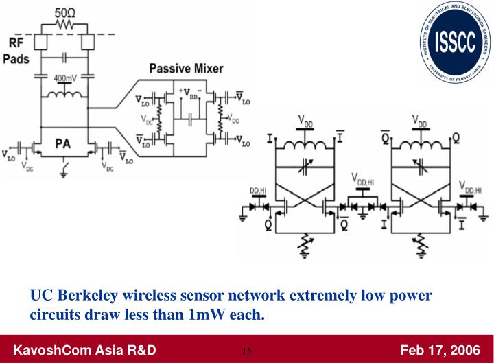 UC Berkeley wireless sensor network extremely low power