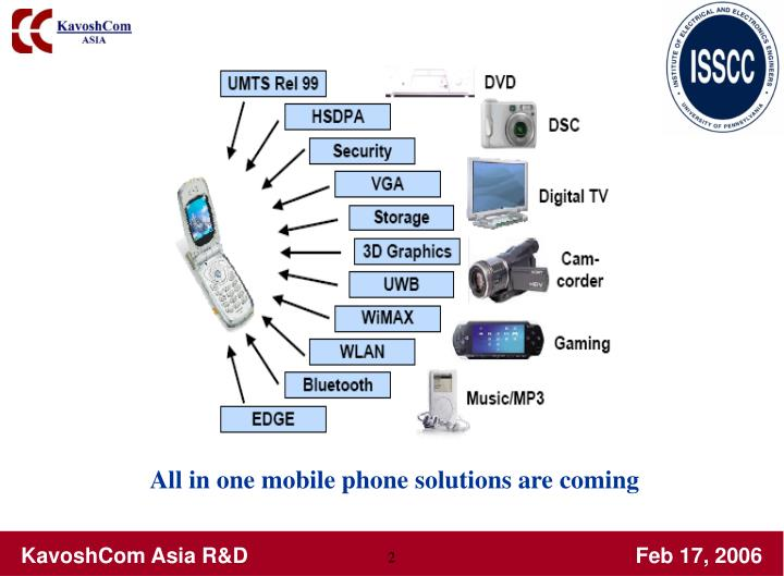 All in one mobile phone solutions are coming