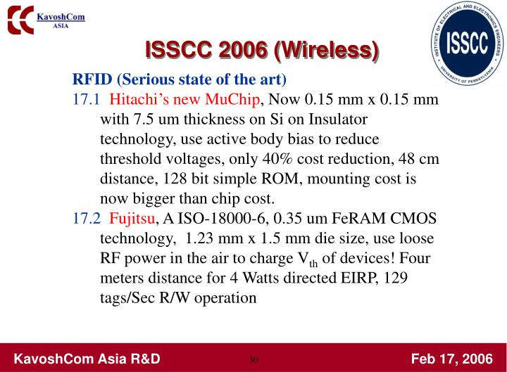 ISSCC 2006 (Wireless)