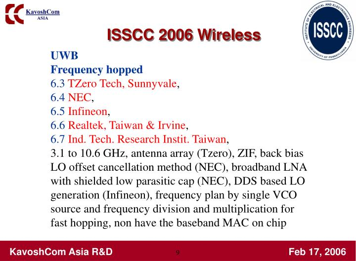 ISSCC 2006 Wireless