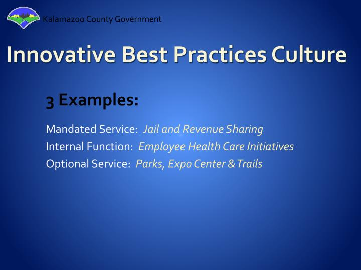 Innovative Best Practices Culture
