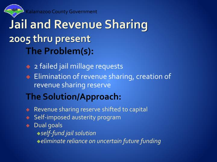 Jail and Revenue Sharing