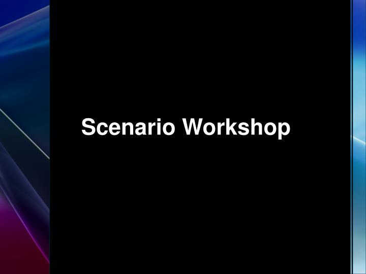 Scenario workshop