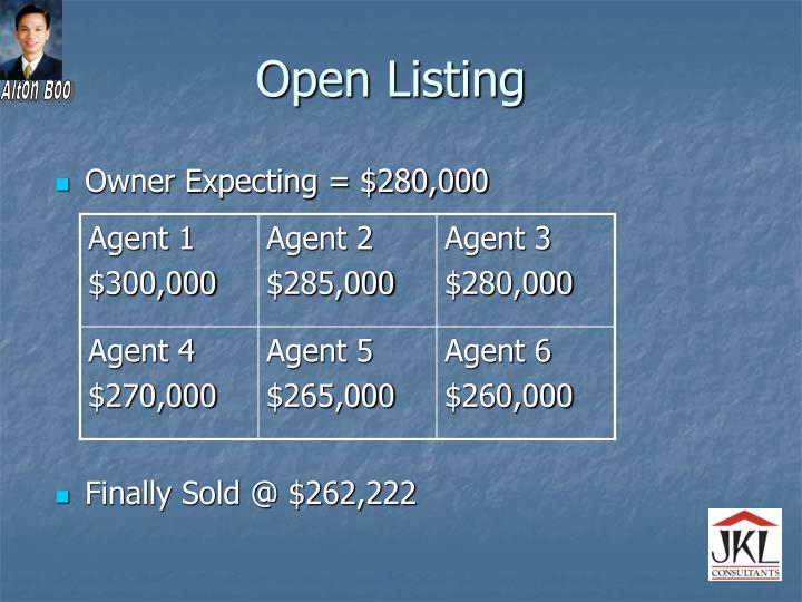 Open Listing
