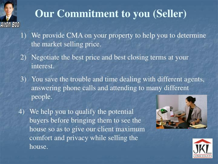 Our Commitment to you (Seller)