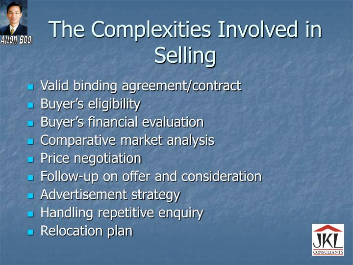The Complexities Involved in Selling