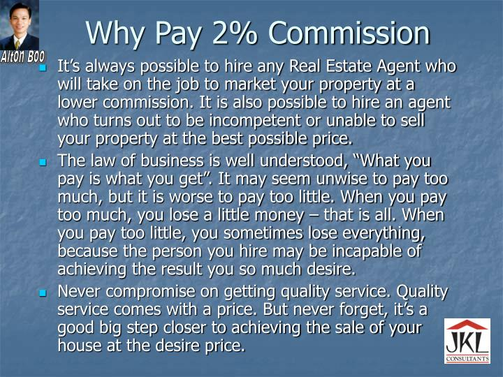 Why Pay 2% Commission