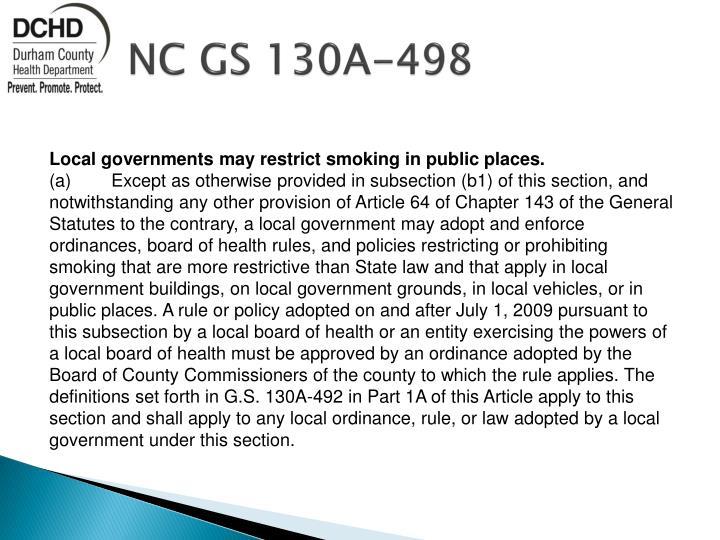 NC GS 130A-498