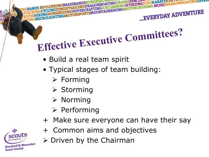 Build a real team spirit