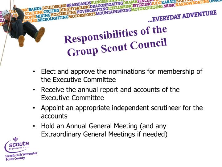 Elect and approve the nominations for membership of the Executive Committee