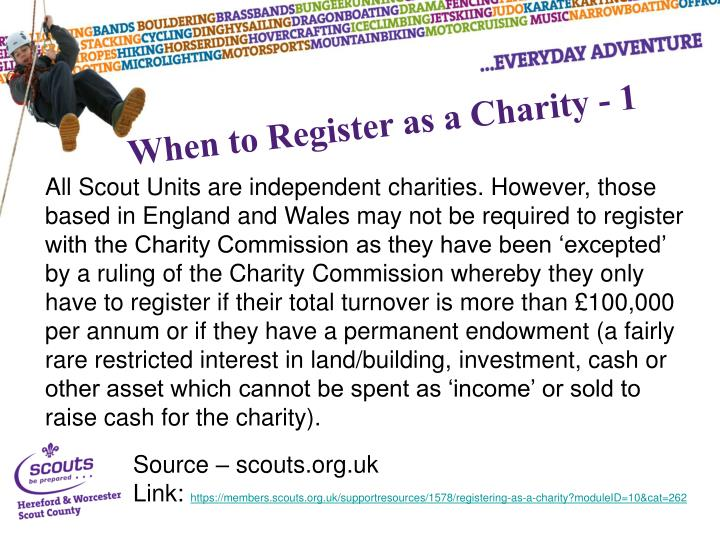 When to Register as a Charity - 1