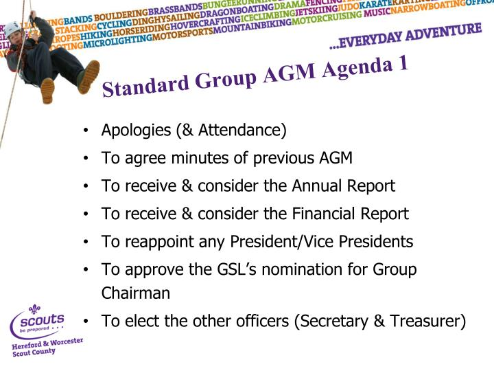 Standard Group AGM Agenda 1