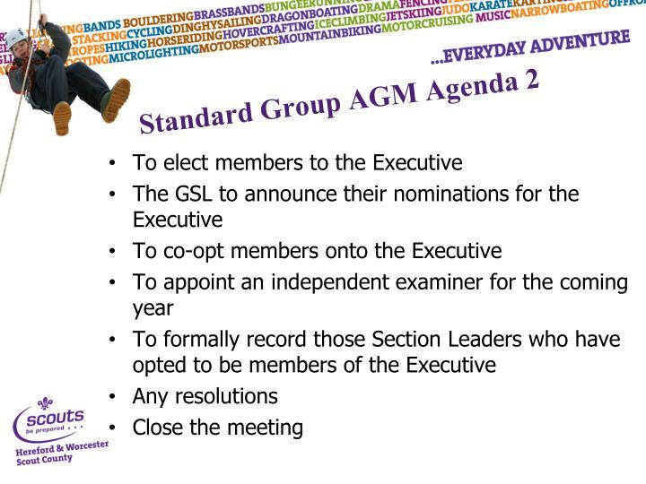 Standard Group AGM Agenda 2