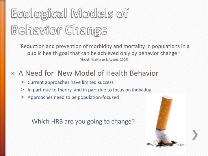 Ecological Models of Behavior Change