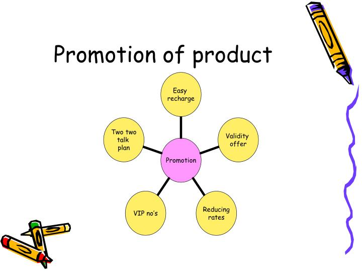 Promotion of product
