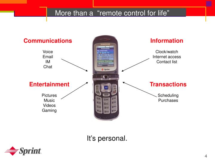 """More than a  """"remote control for life"""""""