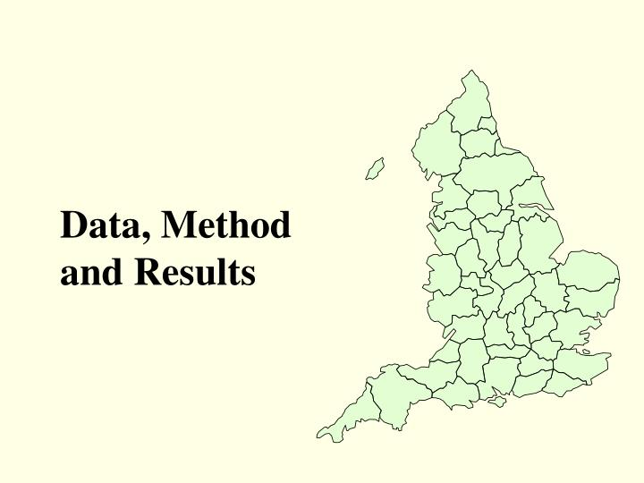 Data, Method and Results