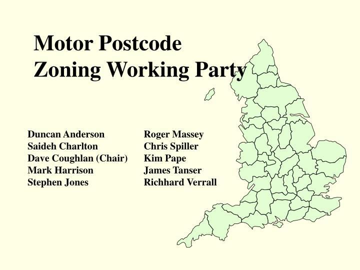 Motor Postcode