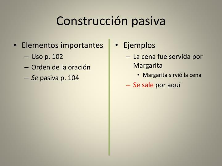 Construcción pasiva