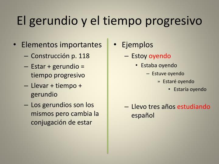 El gerundio y el tiempo progresivo