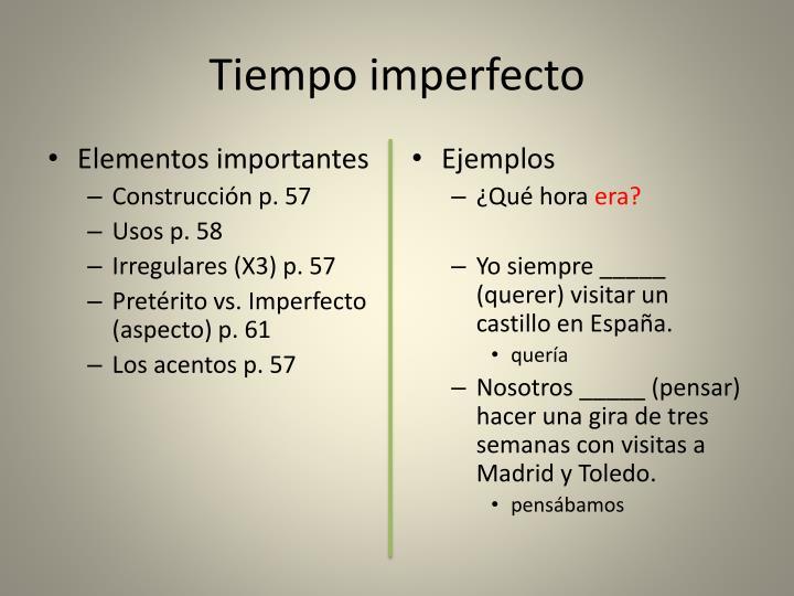 Tiempo imperfecto