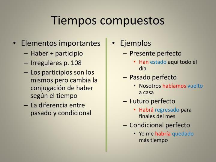 Tiempos compuestos