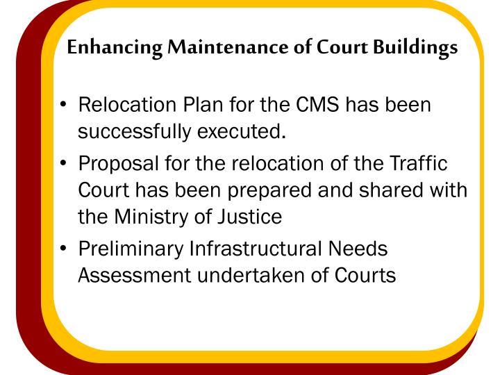 Enhancing Maintenance of Court Buildings