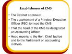 establishment of cms1
