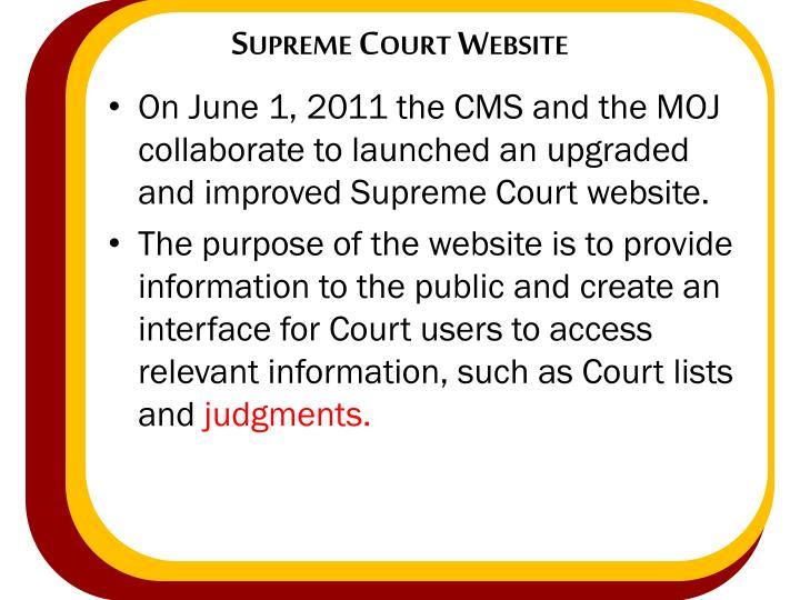 Supreme Court Website