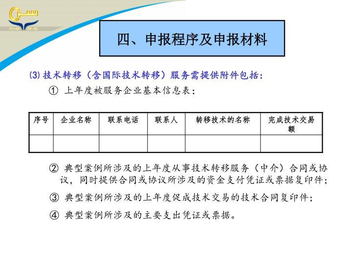 四、申报程序及申报材料