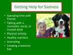 getting help for sadness