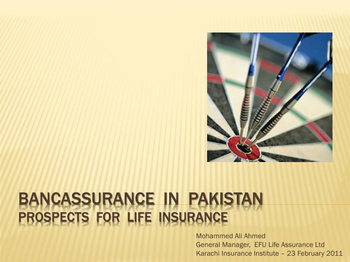 introduction of bancassurance