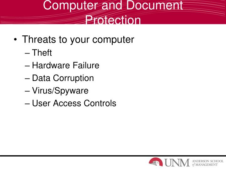 Computer and Document Protection