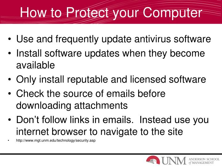 How to Protect your Computer
