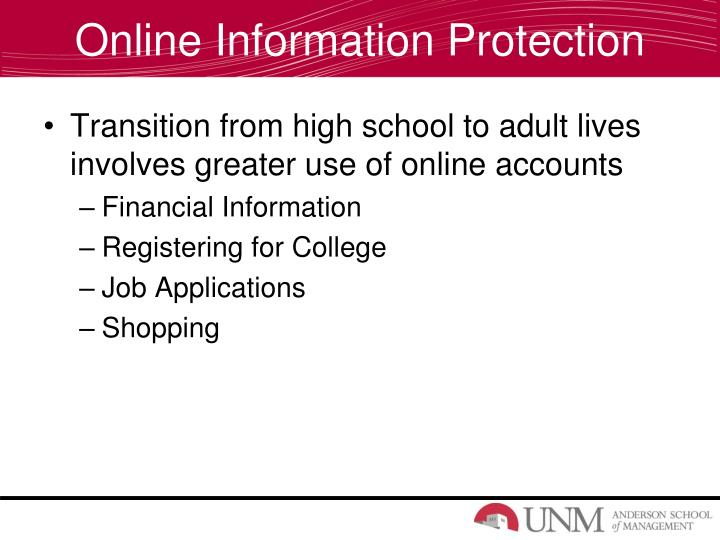 Online Information Protection