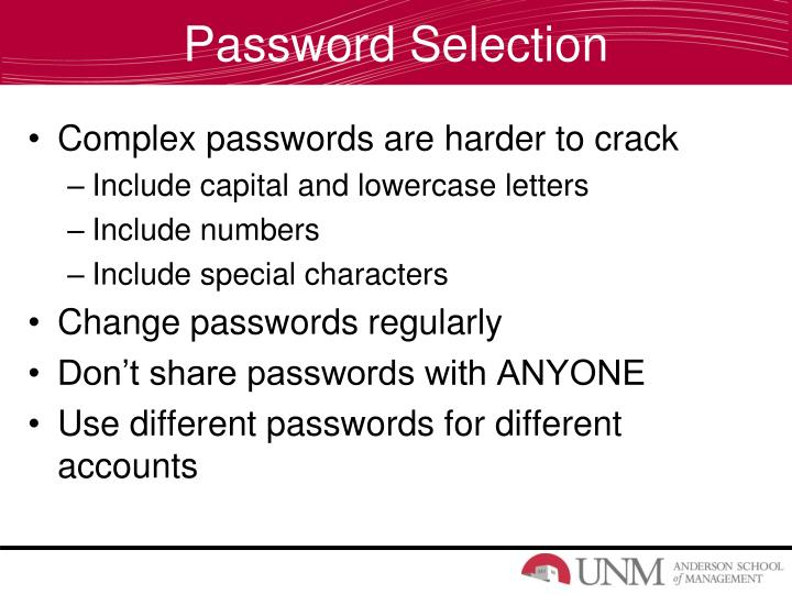 Password Selection