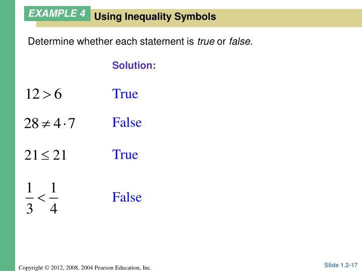 Determine whether each statement is